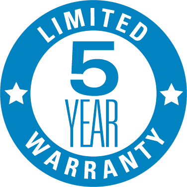 XLERATOR hand dryers have a 5-Year Limited Warranty